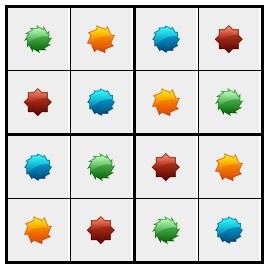 סודוקו צורות 1 - פתרון