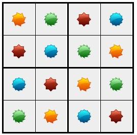 סודוקו צורות 2 - פתרון