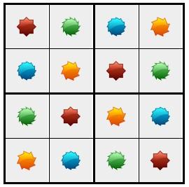 סודוקו צורות 3 - פתרון