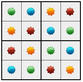 סודוקו צורות 4 - פתרון